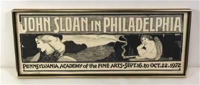 1972 John Sloan PA Academy of Fine Arts Poster