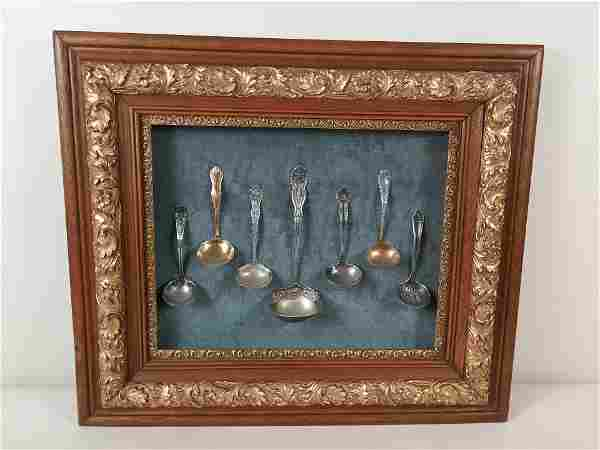 Antique Frame with Ladle Display