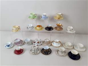 Collection of 22 Cups and Saucers incl Meissen