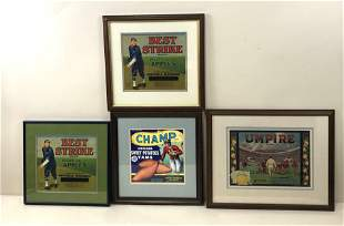 4 Fruit Crate Labels Sports Prints