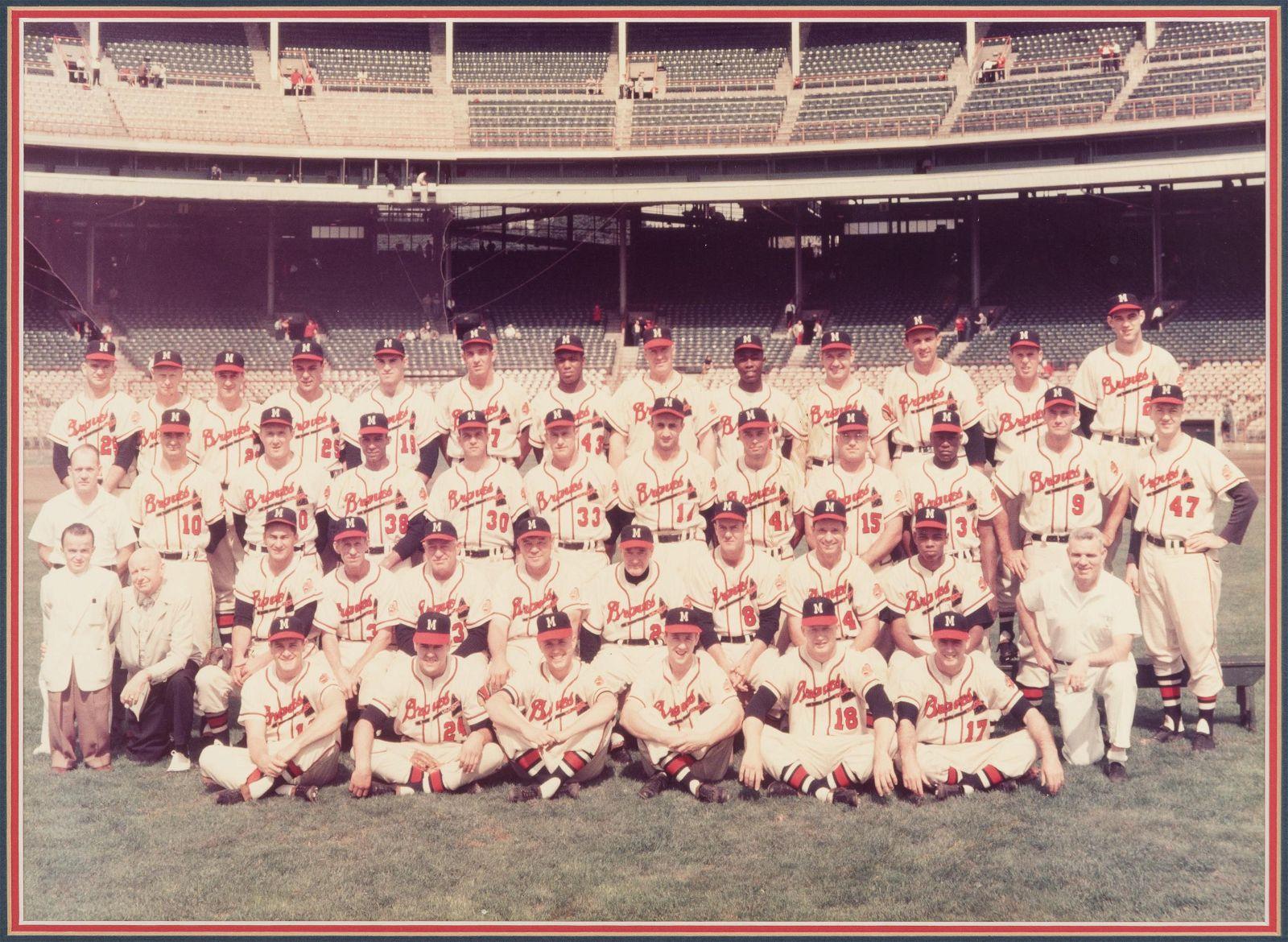 Milwaukee Braves Team Photo