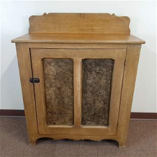 19th c Grain Painted Jelly Cupboard