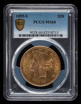 1895-S $20 Double Eagle PCGS MS60