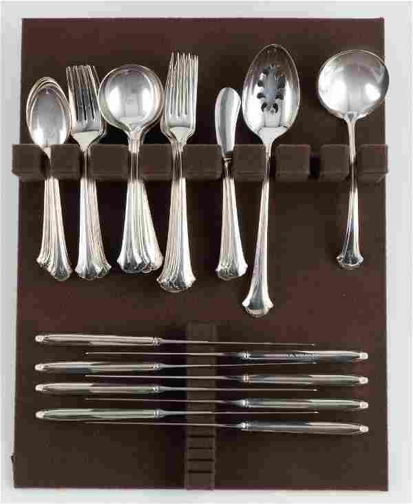 50 Pcs Towle Chippendale Sterling Flatware
