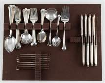 56 Pcs Towle Chippendale Sterling Flatware