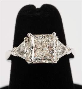 Platinum 3.63 CTW 3-Stone Diamond Ring