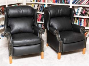 Pair of Alexander Taylor Leather Recliners