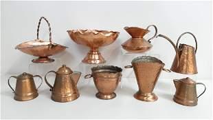 9 Pcs Gregorian Copper Ware