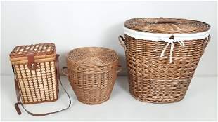 3 Baskets incl. Clothes Hamper