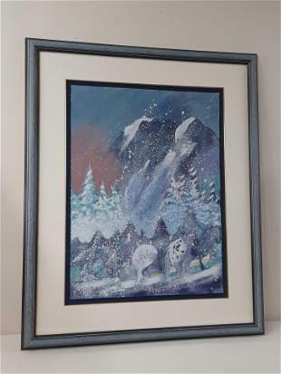 """Earl Biss """"Storm on Thunder Mountain"""" Lmt. Ed.Serigraph"""