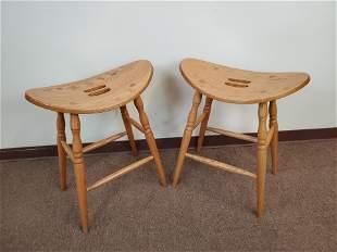 2 Oakland Wood Ltd. Saddle Stools