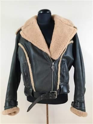 Medium Fur Lined Harley Davidson Leather Jacket