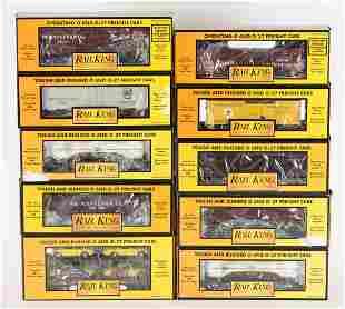 10 Rail King PRR Freight Cars