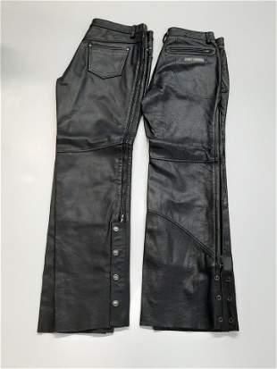 2 Pairs Harley Davidson Men's Leather Pants