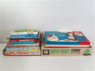 8 Vintage Board Games incl Green Ghost