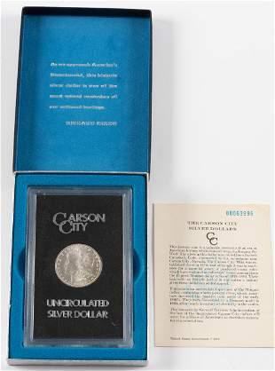 1880 Uncirculated Carson City Morgan Silver Dollar