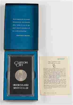 1882 Uncirculated Carson City Morgan Silver Dollar