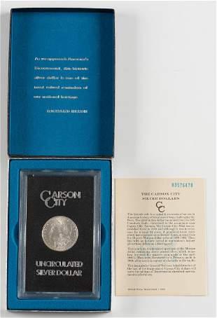 1883 Uncirculated Carson City Morgan Silver Dollar