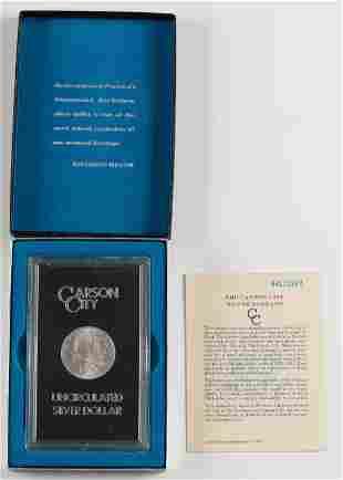 1884 Uncirculated Carson City Morgan Silver Dollar