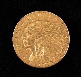 1908 Gold Indian Head Quarter Eagle
