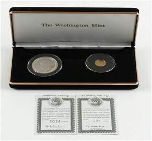 2001 Washington Mint 2 Pc. George W. Bush Set