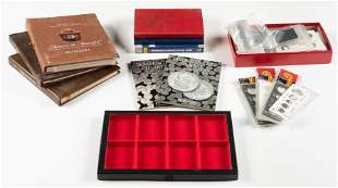 Grouping of Coin Collecting Supplies