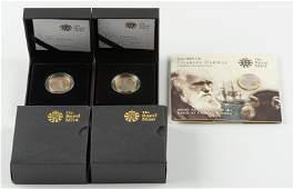 2 Charles Darwin 2 Pound Coins