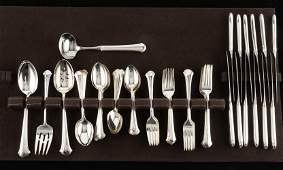 66 Pcs Sterling Towle Chippendale Flatware