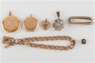 7 Pcs Vintage Gold Filled Jewelry
