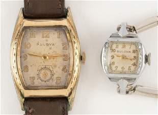 2 Bulova Wristwatches, Ladies and Gents