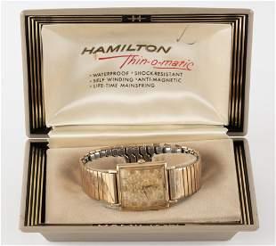 Vintage Hamilton Wrist Watch in Hamilton Box