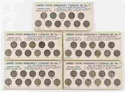 5 11 Pc Silver War Nickel Sets