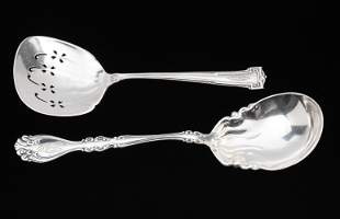 2 Sterling Serving Spoons Wallace & Alvin