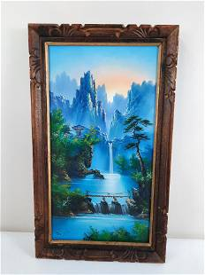 Signed Asian Landscape Painting