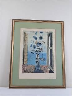 Charles Levier Ltd Floral Sailboat Print
