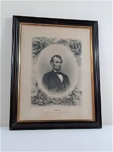 Abraham Lincoln Memorial Engraving