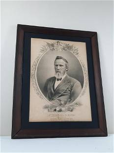 Rutherford B. Hayes Political Engraving