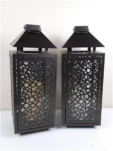 Pr Lanterns with Artificial Candles