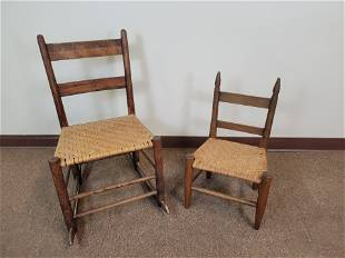 2 Ladder Back Childs Chairs