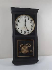 WM L Gilbert Coca Cola Regulator Clock