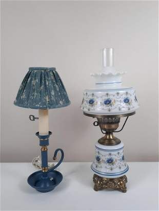 2 Table Lamps incl Gone with The Wind