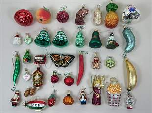 35 Designer Christmas Ornaments incl Radko