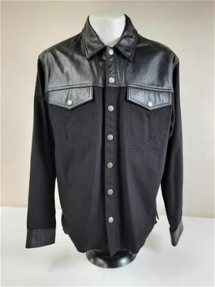 Medium Harley Davidson Leather and Denim Jacket