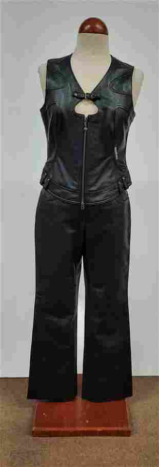 Women's Harley Davidson Leather Vest and Pants