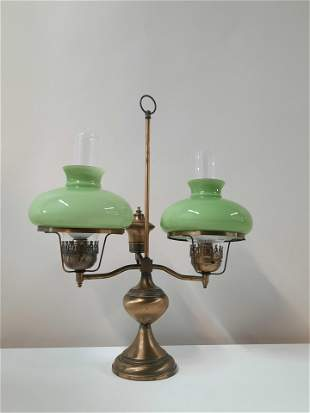 Vintage Electric Double Student Lamp