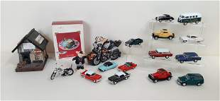 18 Pcs Harley-Davidson and Die Cast Cars