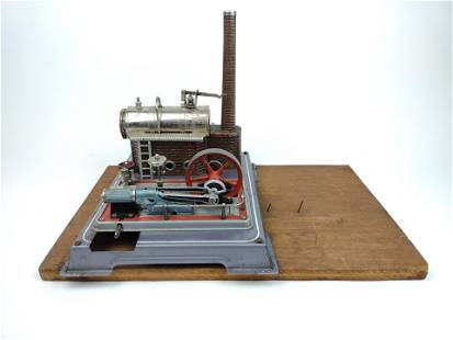 Electric Steam Engine on Wood Base