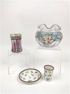 4 Enameled Glass and Ceramic Articles