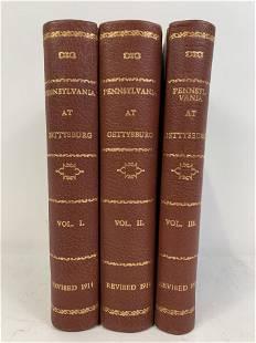 3 Volumes Pennsylvania at Gettysburg