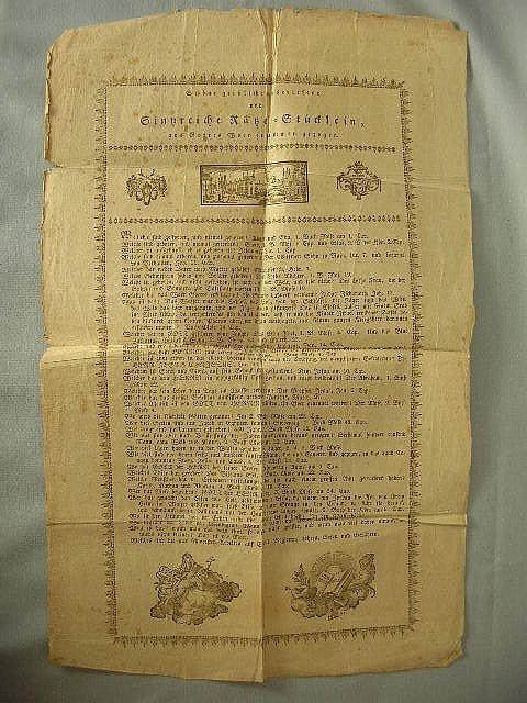 2: C 1830-50 PA German Religious Broadside Berks Cty
